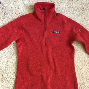 Patagonia Women's Red Better Sweater 1/4 Zip